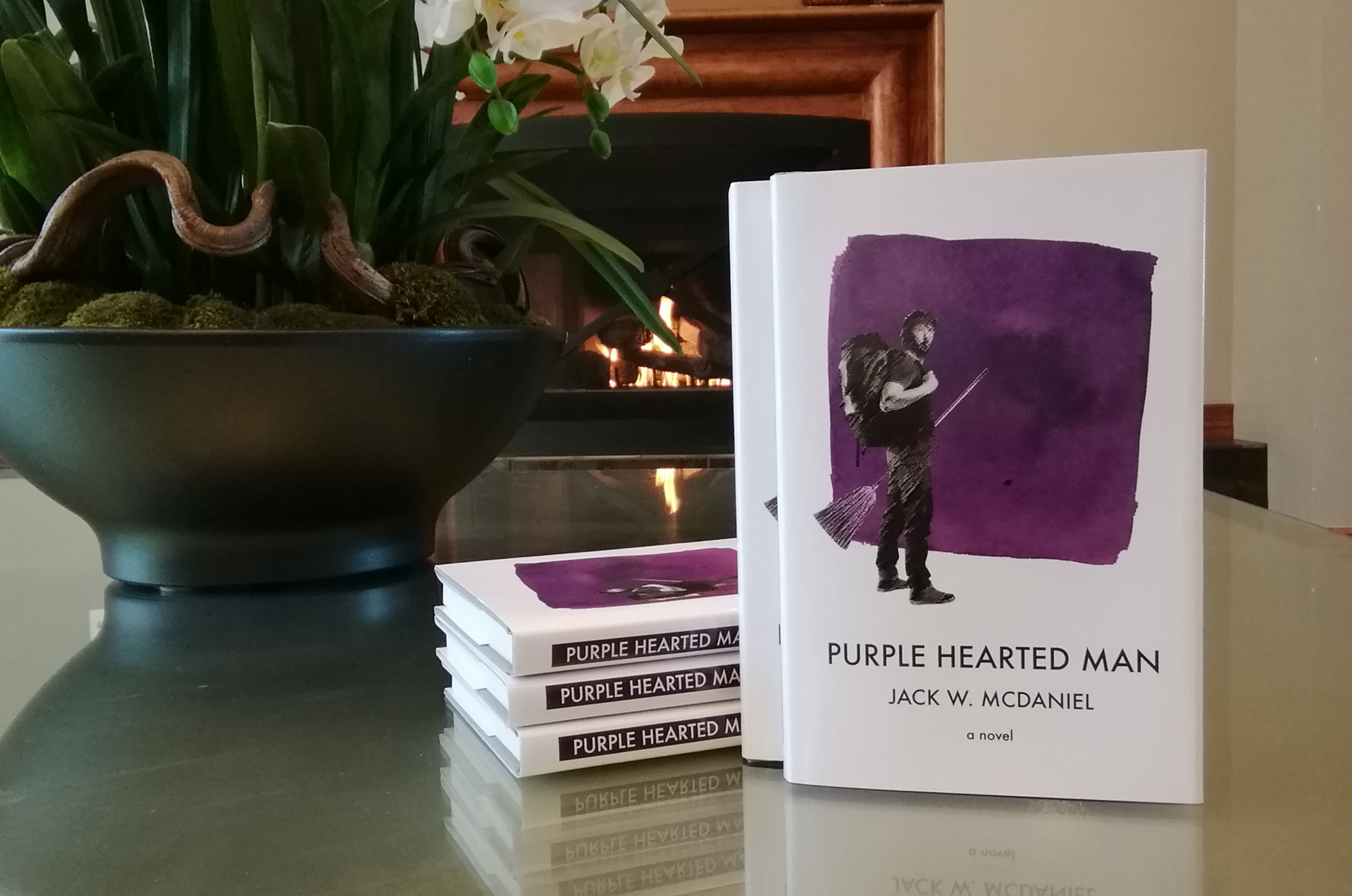 Win a signed hardcover edition of Purple Hearted Man