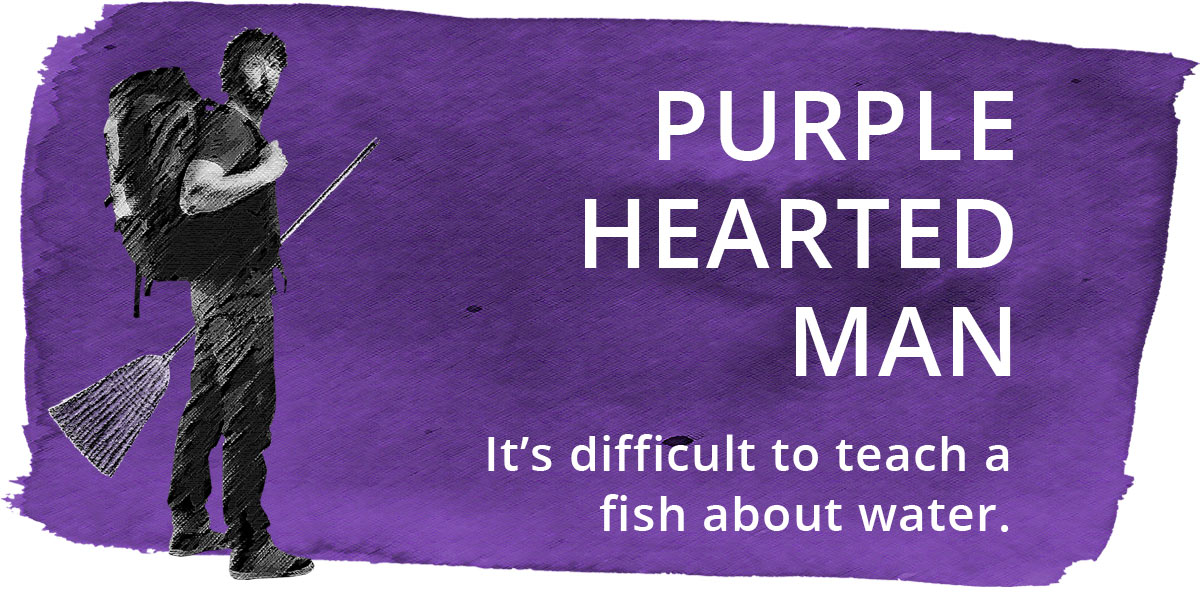 Purple Hearted Man on NetGalley